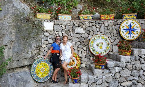 Un atelier de ceramica undeva intre Praiano si Positano.
